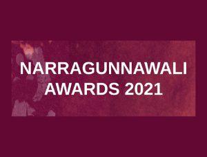 Narragunnawali Awards 2021 logo on purple background.